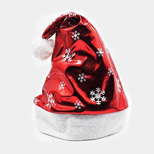 COOGG kerstmuts party kerstmuts blauwe en witte muts voor Kerstman kostuum sneeuwvlokken, eland, kerstmuts Een