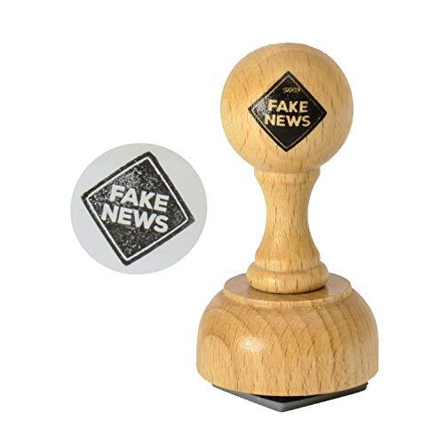Unbekannt Fake News Holzstempel - Fake-News Bürostempel FakeNews