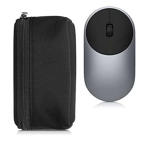kwmobile Custodia in Neoprene con Zip Compatibile con Universal Wireless Mouse - Astuccio Porta Mouse PC - Sacchetto con Cerniera - Borsa