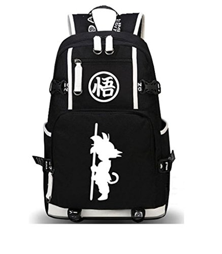 新品 Siawasey Dragon Ball Z Anime Goku Cosplay Luminous Rucksack Daypack Schultasche Laptop-Tasche Schule Tasche…