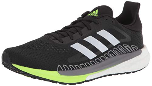 adidas Unisex Solar Glide 3 Running Shoe, Core Black Silver Metal, 9.5 US Men