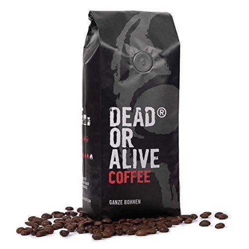 DEAD OR ALIVE Coffee - Deadly Strong 500g | extra starker Kaffee mit kräftigem Aroma | sortenreine Röstung für Espresso und Cafe | Kaffee ganze Bohnen