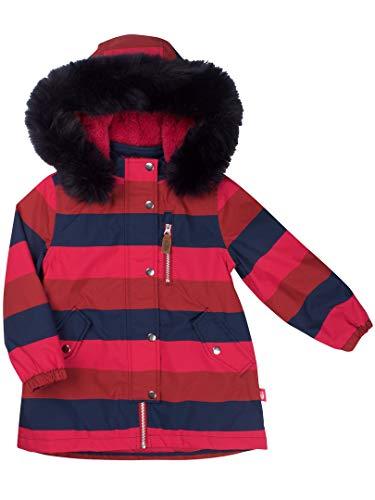 Danefae Winterjacke/ -mantel mit Blockstreifen und Fellkragen Größe 6 Jahre