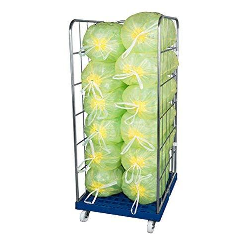 Gitterwagen für gelbe Säcke mit 3 Seitengittern – Rollbehälter mit 1650 mm Vzb als perfekter Behälter und Lagerung vom gelben Sack oder Brennholz mit 3 Seitenwänden für sicheren Transport & Lagerung
