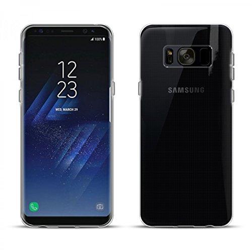 eFabrik Bumper für Samsung Galaxy S8 Plus Hülle Silikon (Galaxy S8+ SM-G955 / G955F + Galaxy S8 Plus Duos) Schutzhülle Handy Schutztasche Cover Tasche Ultra Slim weich Gel Bumper TPU Klar transparent