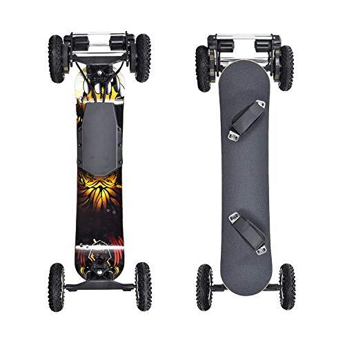 SSCYHT Offroad-Elektro-Skateboard - 40 MPH Höchstgeschwindigkeit, 1660 W * 2 Motor mit kabelloser Fernbedienung Kompletter Cruiser für Erwachsene und Jugendliche