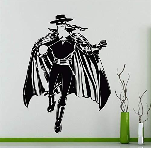 Motivationele Muursticker Citaten Zorro Paard Rider Decal Home Interieur Decoratie Amerikaanse Hero Art Mural voor Jongens Slaapkamer Woonkamer 15.6x19.5 inch