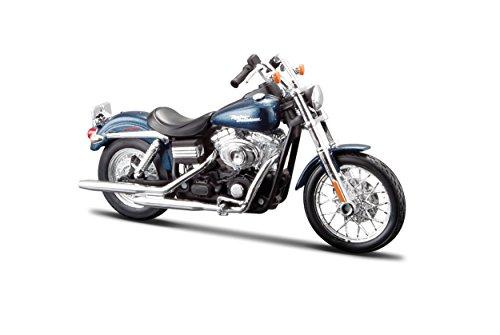 Maisto Harley-Davidson FXDBI Dyna Street Bob ´06: Motorradmodell 1:12, mit Lenkung, beweglichem Ständer und frei...