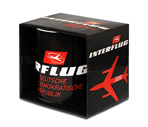 Logoshirt Airlines - Interflug DDR Porzellan Tasse - Kaffeebecher - schwarz - Lizenziertes Originaldesign
