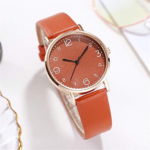 Relojes Para Mujer Mira las mujeres Casual Red con estrellas Decoración Relojes Moda Acero inoxidable Dial Cinturón salvaje Reloj de pulsera Relojes Decorativos Casuales Para Niñas Damas ( Color : C )