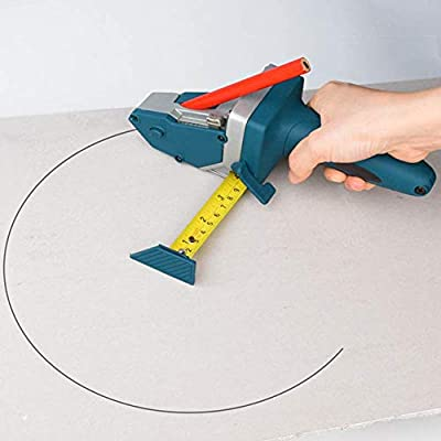 Portable Gypsum Board Cutting Device, All-in-one Drywall Cutting Hand Tool with Measuring Tape and Utility Knife, Convenient to Measure, Mark and Cut Drywall, Wood, etc