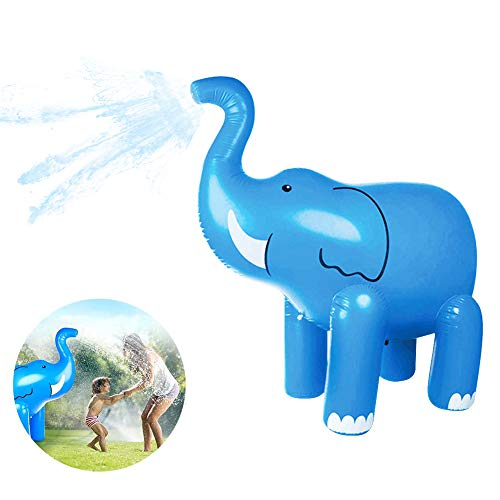 FDYD Elefante Inflable de riego de PVC muñeca Padres e Hijos Interactivo de Agua disperso Juguete para Uso al Aire Libre