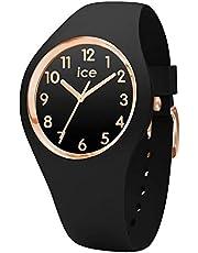 Ice-Watch - Ice Glam Black Rose-Gold Numbers - Orologio da Donna con Cinturino in Silicone - 014760, Small, Nero
