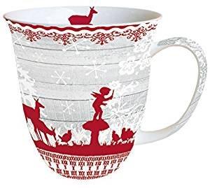 Ambiente Becher - Mug Tee/Kaffee Becher Fairy Tale ca. 0.4L Christmas - Weihnachten - Ideal Als Geschenk