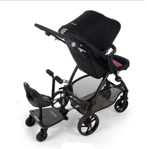 Plataforma para carrito de bebé de Be Cool, como plataforma o asiento, con 3 ruedas, negro