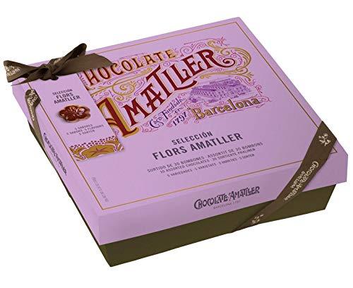 Simòn Coll Degustazione 30 Cioccolatini Assortiti in 5 Sapori: Maec de Cava, Cointreau, Nocciola, Arancia, Lampone - 1 x 180 Grammi