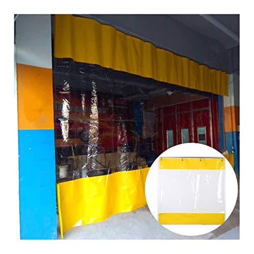 GDMING-Lona Impermeable De PVC Tarea Pesada Transparente Cortina De Partición con Ojales para Interior Al Aire Libre Fábrica Sala De Lavado De Autos, Personalizable (Color : Claro, Size : 1.9x4m)