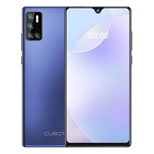 CUBOT P40 Smartphone ohne vertrag, 6,2 Zoll Dot Drop Anzeige, 128GB Speicher (256GB erweiterbar) günstiges Android 10 Handy mit AI Quad Kamera, 4200mAh großer Akuu, Deutsch Version(Blau)