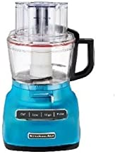 KitchenAid RKFP0930CL 9-Cup Food Processor with Exact Slice System (Renewed) Crystal Blue