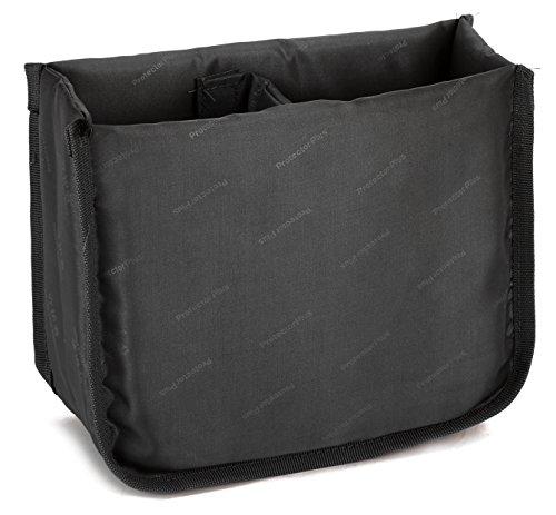 DCCN Kamera Tasche Polstereinsatz Faltbare Trennwand Fototasche Gepolsterte Tascheneinsatz Kameratasche Insert Schwarz