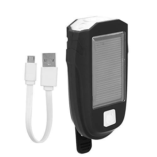 DaMohony Fahrradscheinwerfer, 600 lm, wasserdicht, solarbetrieben, USB-Ladekabel