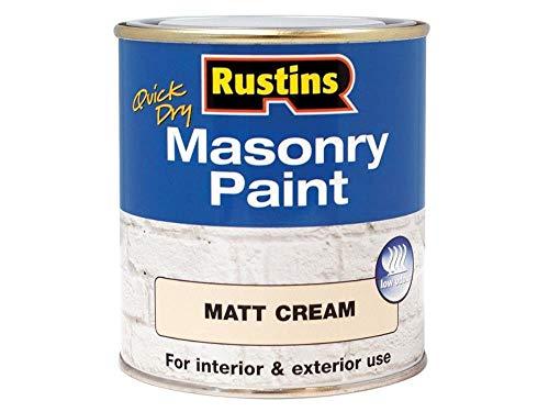 Rustins MASPC500 Masonry Paint Cream 500ml, 500 ml (Pack of 1)