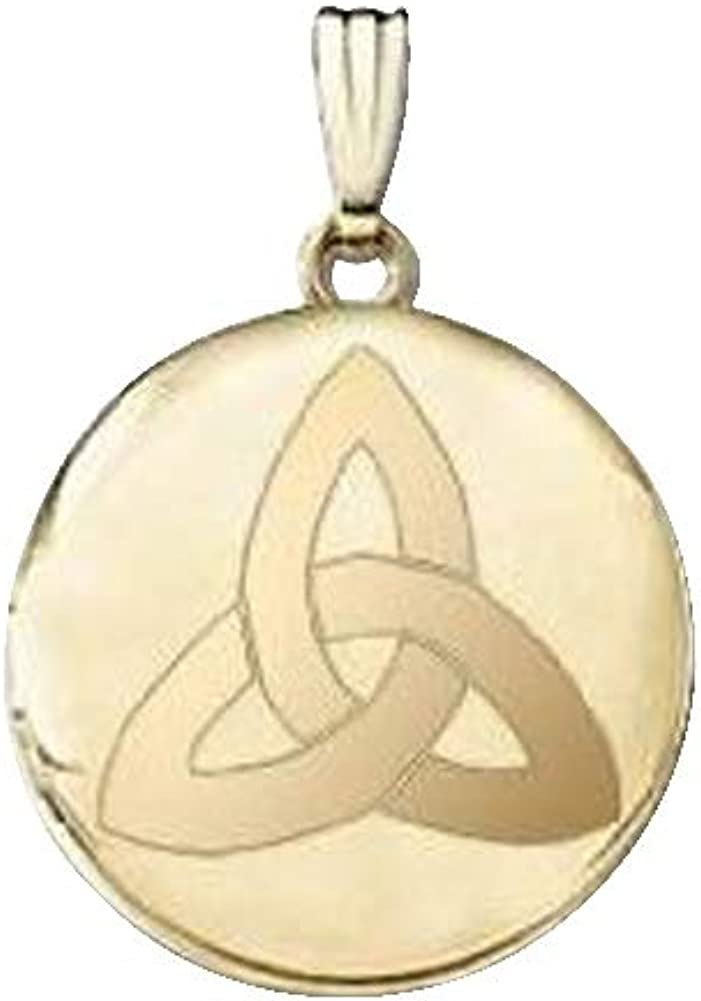 14k Yellow Gold Round Celtic Knot Picture Locket - 3/4 Inch X 3/4 Inch and 1 Inch X 1 Inch