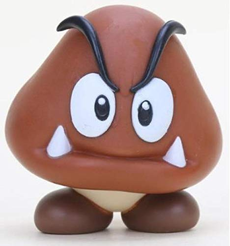 Dangli 18 Styles 8-15cm Anime Mario Bros Bowser Koopa Yoshi Mario Maker Luigi Mushroom Peach Wario PVC Figure Toys Kids Gift-Goomba