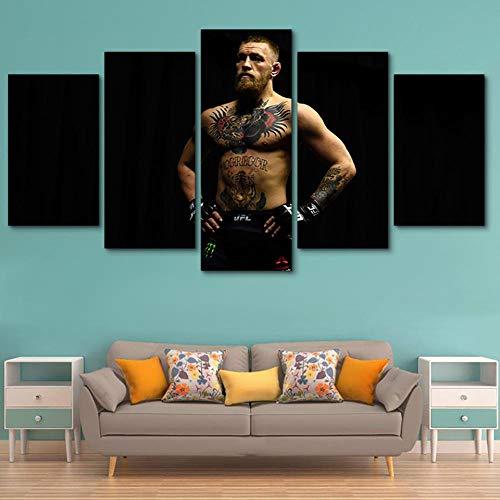 MSDEWLH 5 panelen op canvas schilderijen boxen spieren mannelijke tatoeage kunst modulaire HD druk Modern Movie woonkamer Foto Decoratie Manifesto 8x14in 8x18in 8x22in