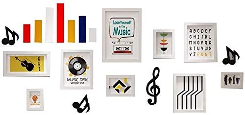 LAMTON Photo frame wming shop Multi-phase, Solid Wood Music Elements, Large Decoration (184 * 84 Cm), 9 Per Pack