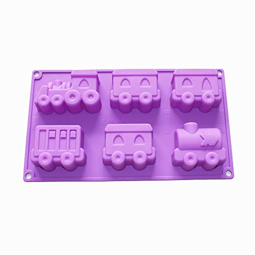 X-Haibei Choo Choo Train Silicone Soap Mold Cake Chocolate Crayon Fimo Kids Shower Supplies