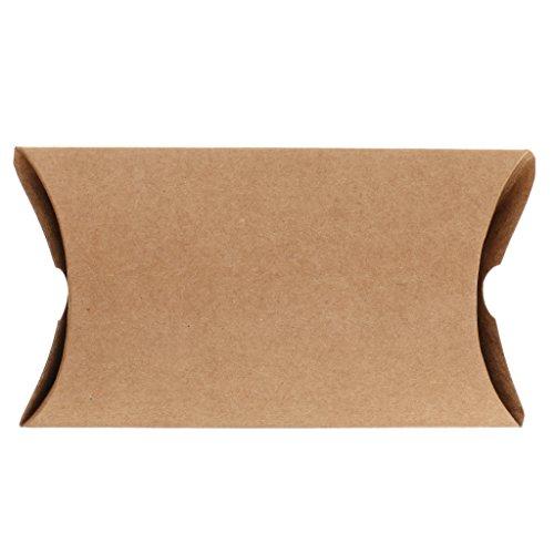 MagiDeal 50 x Kraftpapier Geschenkbox - 15 x 7.5cm - Geschenkschachtel - Kissenschachteln - Gastgeschenk