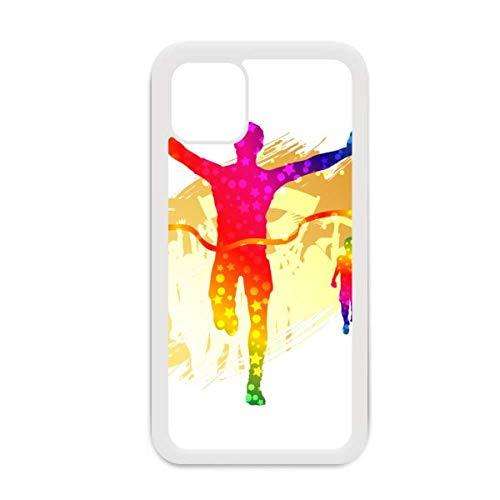 Funda para iPhone 12 Pro Max con diseño de portería de jugador de fútbol para Apple Mini, color blanco