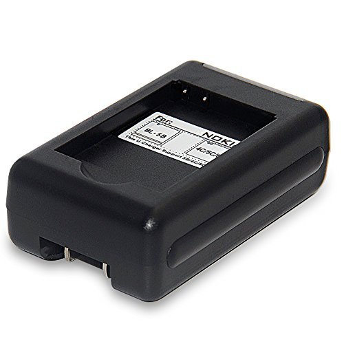 BL-5C Travel Charger for Nokia BL-6P BL-6Q BL-5B BL-4C and 6030 6085 6086 6230 6230i 6267 6270 6555 6600 6630 6670 6680 6681 6820 6822 7600 E50 E60 N70 MusicEdition N71 N72 N91 8GB N-Gage XpressMusic