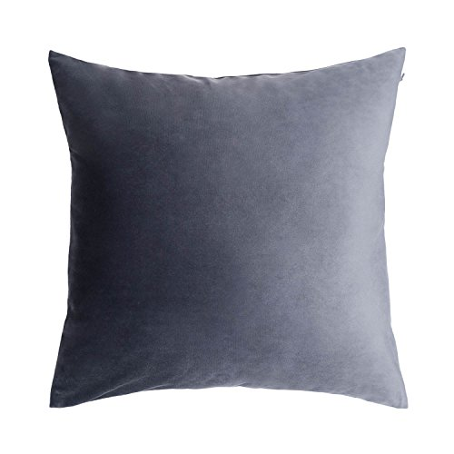 Fodera per Cuscino Velvet, Color Grigio. Velluto Liscio, Una Base Perfetta 45x45 cm.