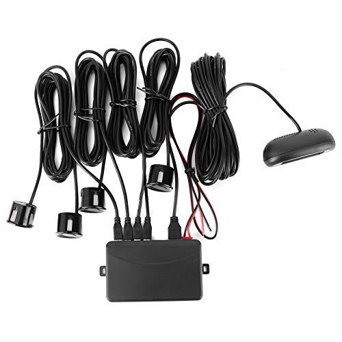 Sensor de aparcamiento, sensor de aparcamiento LED de coche de alta sensibilidad, sistema de radar de respaldo de coche universal resistente a la intemperie para coches de 12 V, alarma de zumbido