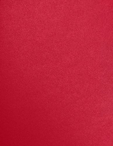 """LUXPaper 8.5"""" x 11"""" Paper for Crafts and Printing in Jupiter Metallic, Scrapbook and Office Supplies, 50 Pack (Red)"""
