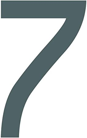 1peak Zahlenaufkleber Nummer 7 Schwarz 20cm 200mm Hoch Aufkleber Mit Zahlen In Vielen Farben Höhen Wetterfest Küche Haushalt