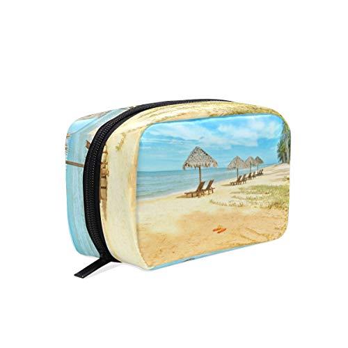 Trousse de maquillage de voyage Trousse de toilette pour femmes Sac de toilette portatif pour les chaises de plage pour filles