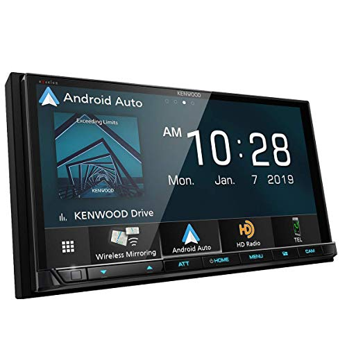 Price comparison product image Kenwood DMX906S 6.95 inches Digital Media Receiver Wired / Wireless CarPlay / A.Auto (Renewed)