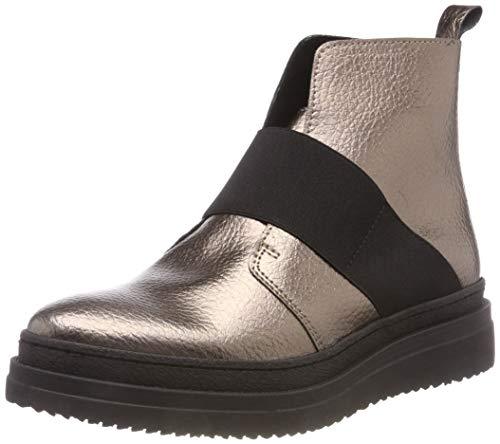 PIECES Damen PSDESSA Leather Boot Stiefeletten, Mehrfarbig (Bronze Mist Bronze Mist), 39 EU
