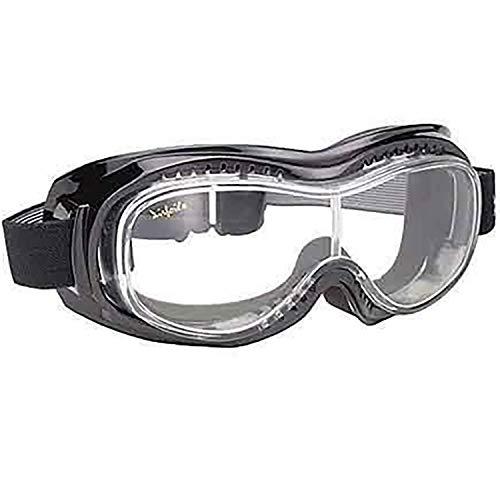 Costa del Pacífico Airfoil negro gafas con antiniebla lente de policarbonato transparente con–talla única