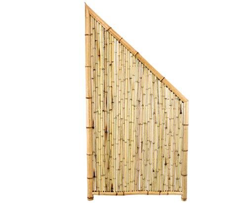 Bambus Abschlusselement Ten New Line5 180/90 x 90cm - Sichtschutzwand Sichtschutzelement Sichtschutz Gartenzaun Zaunelement Sichtschutzwände Gartenzäune