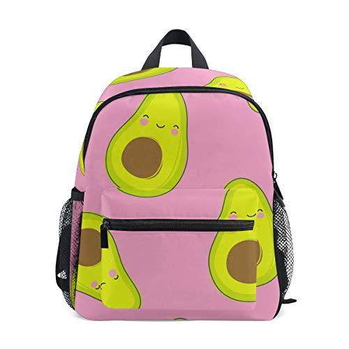 Mochila para niños pequeños, con estampado de aguacate, bolsa de viaje para niños de 3 a 8 años