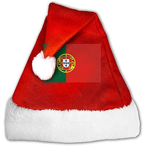 Kenice Santa Claus Mütze,Weihnachtsmützen,Rot Weihnachten Hüte,Weihnachtsmann Hut,Portugal-Flaggen-Party-Dekoration,Weihnachtsmann-Kappe,Weihnachtsfeiertags-Hut M