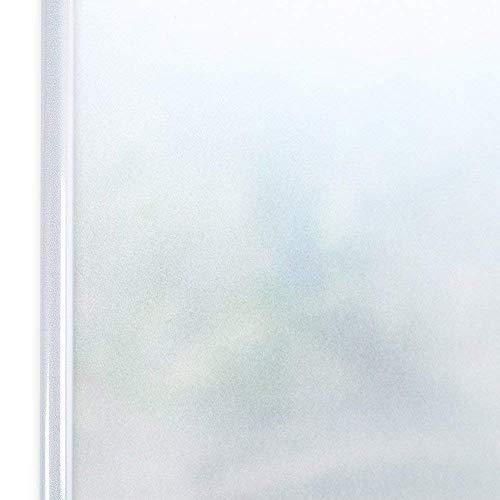 Homein Selbstklebende Sichtschutzfolie Statisch Haftend Fensterfolie 90x200cm, Blickdicht Fenster Milchglasfolie Sichtschutz Undurchsichtige Dekorfolie für Duschkabine Bad Badezimmer Tür Matt