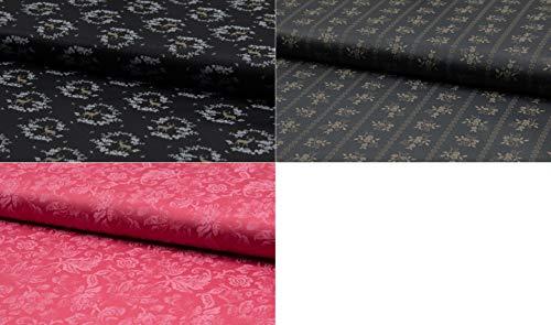 Fabrics-City HOCHWERTIG Baumwoll DIRNDLSTOFF TRACHTENSTOFF Baumwollstoff Oeko-TEX, 4883 (Koralle-Des2)