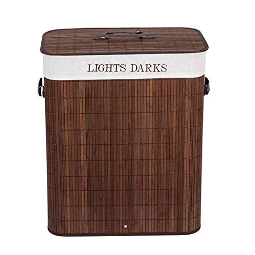 Papelera de bambú hecha a mano, rectangular, para baño, dormitorio, cocina, sala de manualidades (color: C)