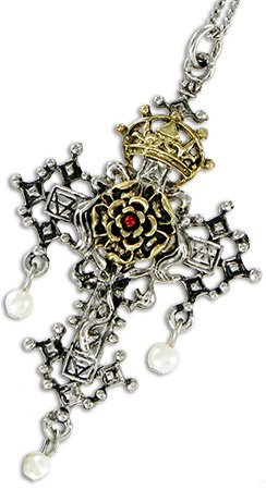 Hampton Court Rosy Cross for Faith and Devotion - Lost Treasures of Albion Pendant Collection by Lost Treasures of Albion