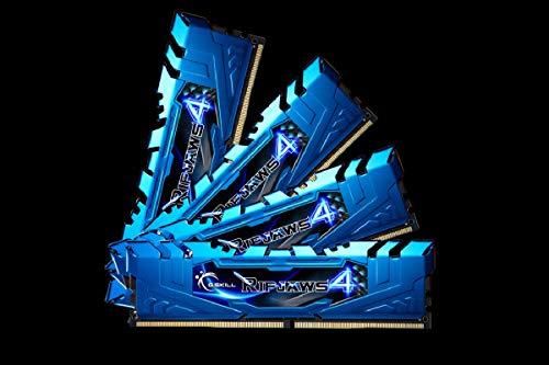 G.Skill 32GB (4x8GB) Ripjaws 4 DDR4 3000MHz PC4-24000 CL15 Quad Channel Kit Blue Model F4-3000C15Q-32GRBB